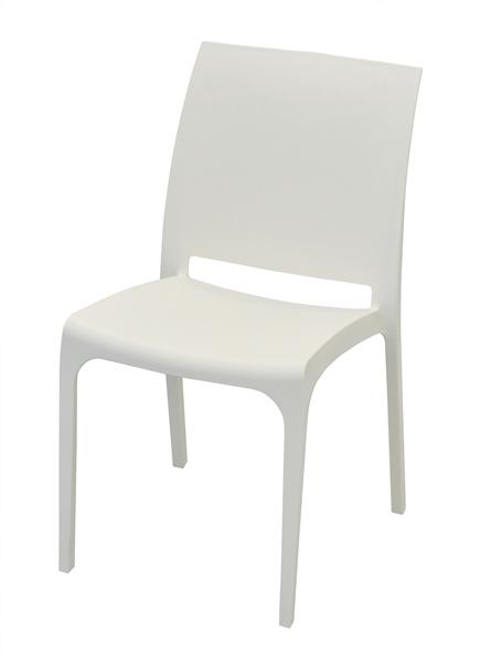 chaise volga blanche sfpl soci t de fournitures pour locatifs. Black Bedroom Furniture Sets. Home Design Ideas