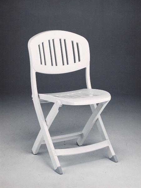 Chaise pliante nardi capri blanche sfpl soci t de fournitures pour locatifs - Chaise resine blanche ...