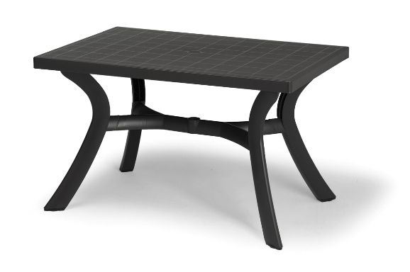 Table nardi toscana anthracite 120x80cm sfpl soci t de fournitures pour locatifs - Table jardin nardi poitiers ...