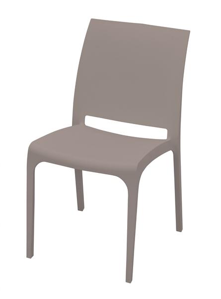 chaise volga taupe sfpl soci t de fournitures pour locatifs. Black Bedroom Furniture Sets. Home Design Ideas