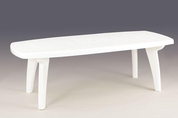 TABLE SORRENTO Blanche 170/220 x 95 x 72 cm