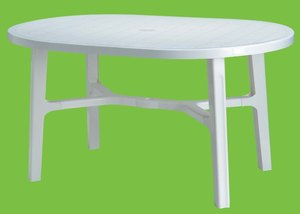 TABLE OVALE RODRIGUES Blanche 140 x 90cm
