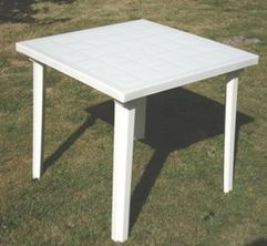 TABLE WEEK-END 80 x 80 cm Blanche