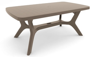 TABLE BALTIMORE 177 x 100 cm TAUPE