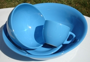 SERVICE 22 PIECES FAIENCE ELENA BLEU ROY