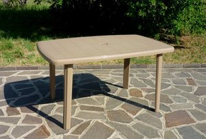 TABLE CAIMAN TAUPE 137x85cm