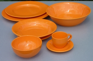 ASSIETTE CREUSE ELENA ORANGE