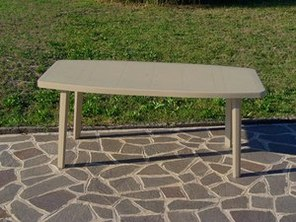 TABLE OCEAN TAUPE 176x87 cm