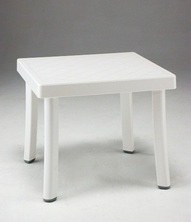 TABLE BASSE NARDI RODI blanche 46x46cm
