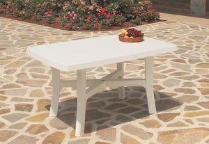 TABLE ROSA 138 x 88 CM BLANCHE
