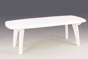 TABLE SORRENTO Blanche 170/220 x 95 x 72 cm