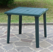 TABLE WEEK-END 80 x 80 cm Verte